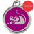 Red Dingo Cat ID Tag Stainless Steel & Enamel Mouse