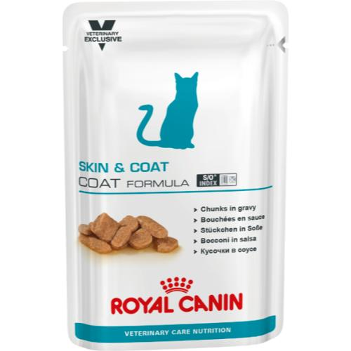 Royal Canin VCN Skin & Coat Wet Pouches Cat Food