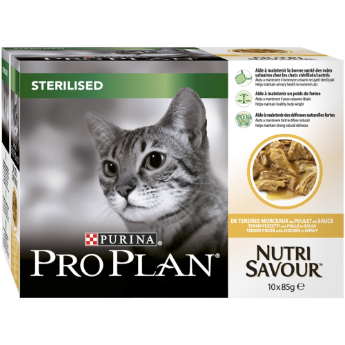 PRO PLAN NUTRISAVOUR Chicken in Gravy Sterilised Adult Cat