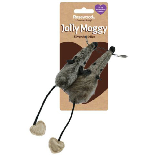 Rosewood Jolly Moggy Silvervine Mice Cat Toy