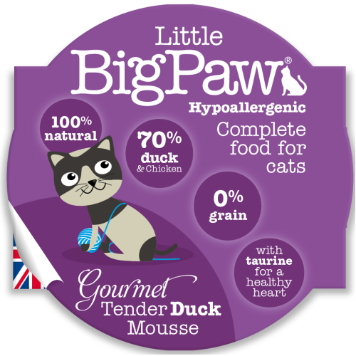 Little Big Paw Gourmet Tender Duck Mousse Cat Food