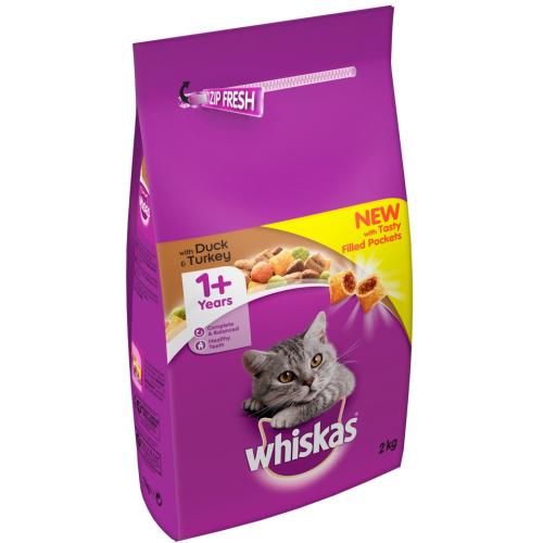 Whiskas Dry 1+ Duck & Turkey Adult Cat Food