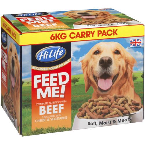 HiLife FEED ME! Complete Nutrition with Beef flavoured with Cheese & Veg