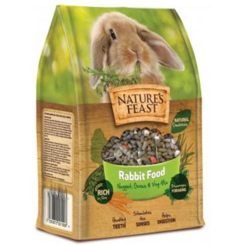 Natures Feast Nugget, Grass & Veg Mix Rabbit Food