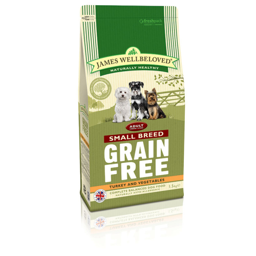James Wellbeloved Grain Free Turkey & Vegetable Small Breed Adult Dog Food