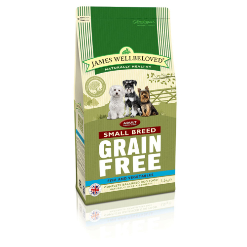 James Wellbeloved Grain Free Fish & Vegetable Small Breed Adult Dog Food