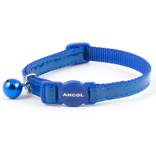 Ancol Gloss Reflective Blue Cat Collar