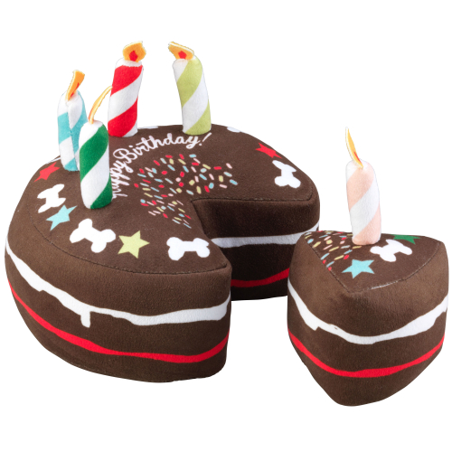 House Of Paws Birthday Cake Slice Dog Toy