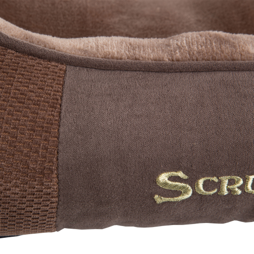 Scruffs Chester Box Dog Bed in Chocolate