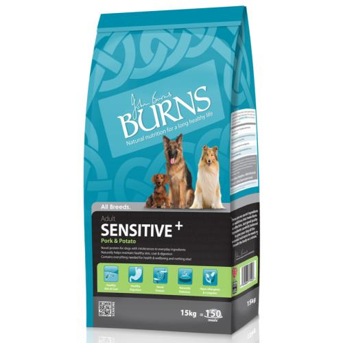 Burns Sensitive+ Plus Pork & Potato Adult Dog Food