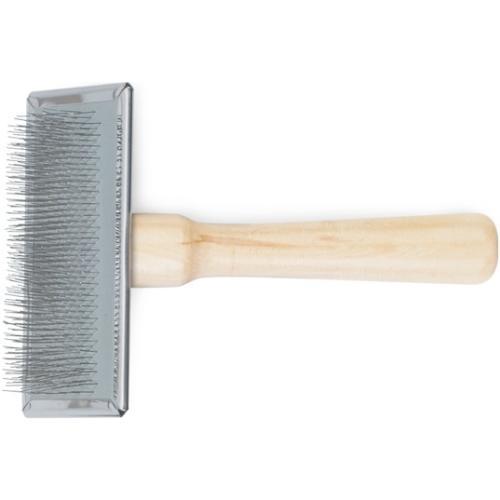 Ancol Heritage Wood Handle Soft Slicker Brush