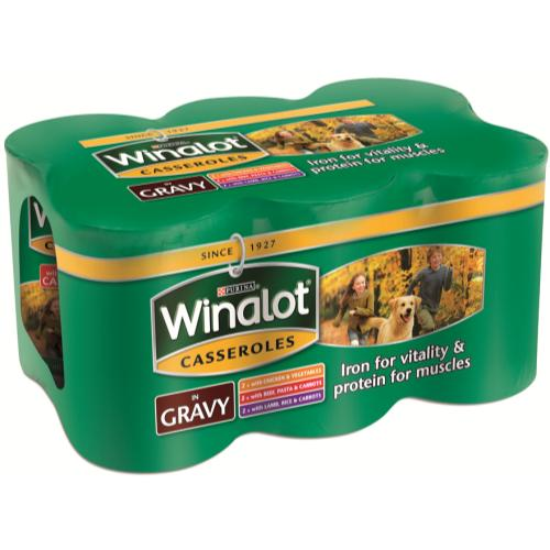 Winalot Casserole Selections In Gravy Tin Dog Food