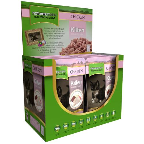 Natures Menu Chicken Kitten Food Pouches
