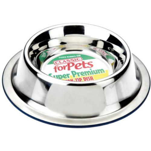 Classic Stainless Steel Non Tip Pet Bowl