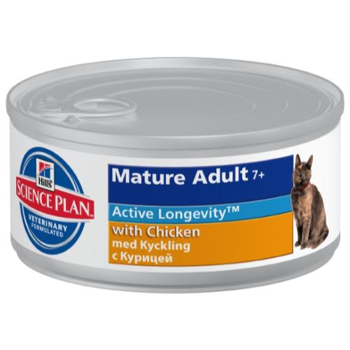 Hills Science Plan Feline Mature Adult 7+ Canned Chicken