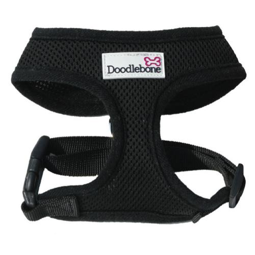Doodlebone Mesh Dog Harness in Black