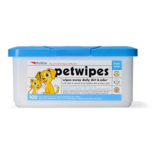 Petkin Pet Wipes For Dogs & Cats