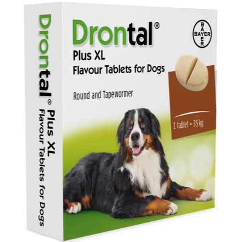 Drontal Tasty Bone XL Worming Tablets for Large Dogs