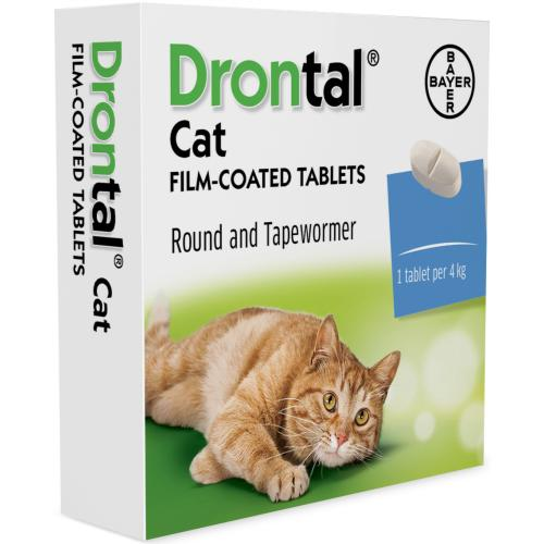 Drontal Worming Tablets for Small & Medium Cats Under 4kg