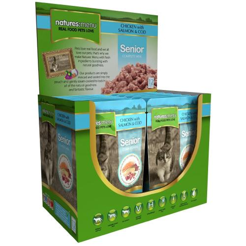 Natures Menu Chicken Salmon & Cod Senior Cat Food Pouches