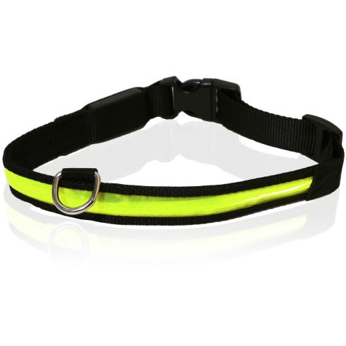 Rosewood Reflective Flashing Dog Collar
