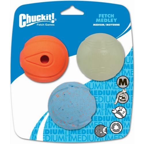 Chuckit Fetch Medley Dog Ball Toy