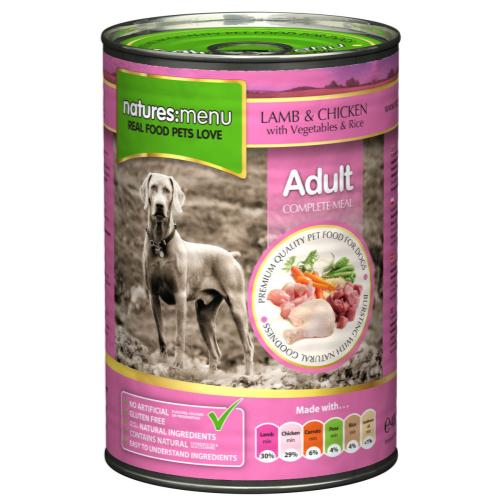 Natures Menu Lamb & Chicken with Veg Adult Dog Food Cans