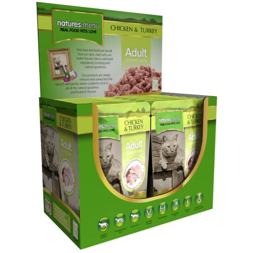 Natures Menu Chicken & Turkey Adult Cat Food Pouches