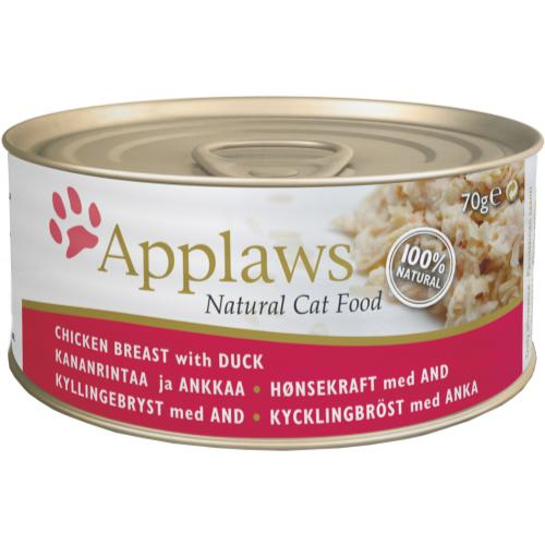 Applaws Natural Chicken with Duck in Broth Wet Adult Cat Food