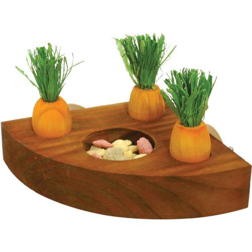 Rosewood Carrot Toy n Treat Holder