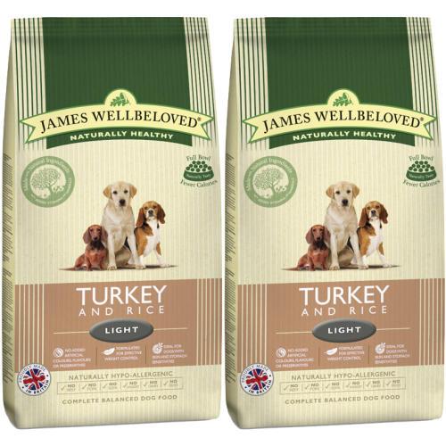 James Wellbeloved Turkey & Rice Light Adult Dog Food