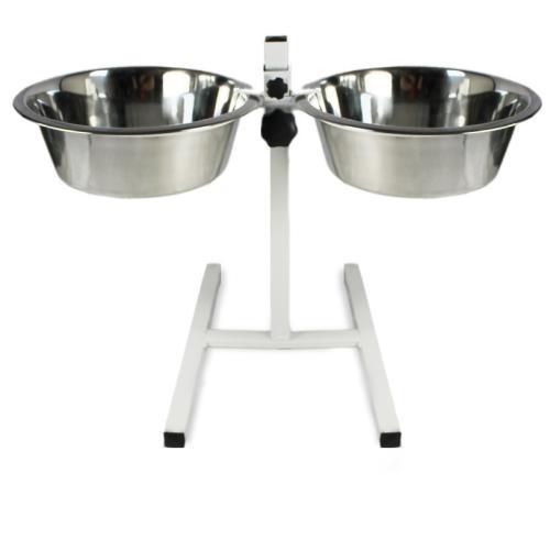 Rosewood Adjustable Double Diner Dog Bowl