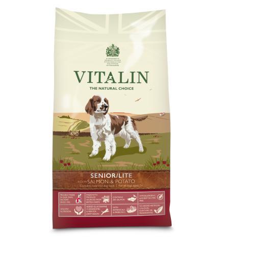 Vitalin Natural Senior Salmon & Potato Dog Food