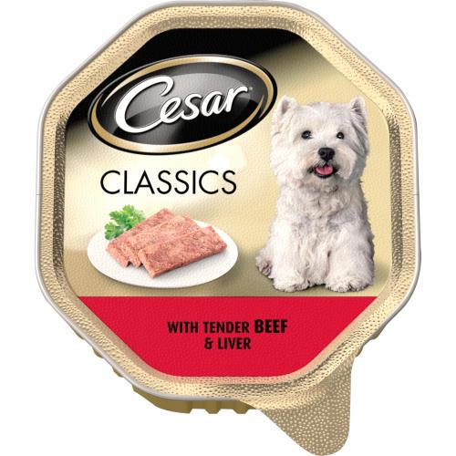 Cesar Tray Classics Beef & Liver Adult Dog Food