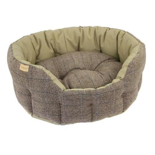Earthbound Traditional Tweed & Waterproof Beige Dog Bed