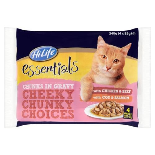 HiLife essentials Cheeky Chunky Choices in Gravy Adult Cat Food