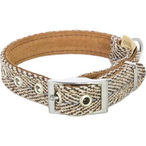 Earthbound Tweed Beige Dog Collar