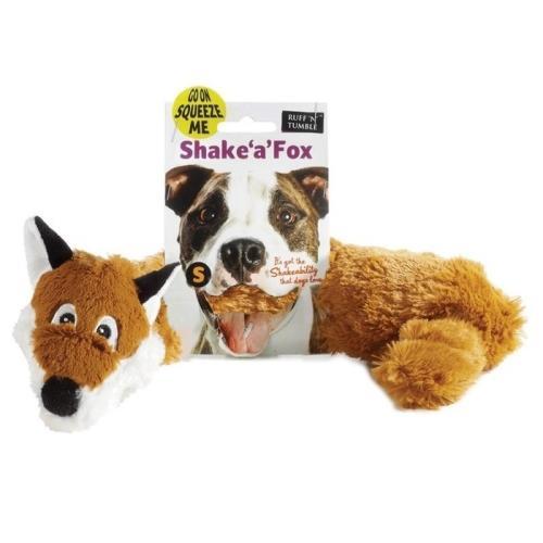 Sharples Pet Shake a Fox Dog Toy