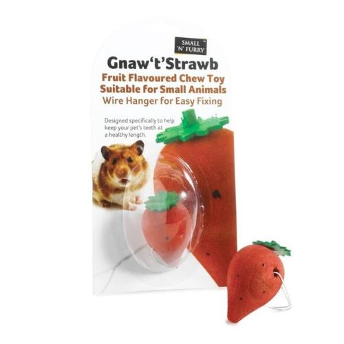 Sharples Pet Gnaw T Strawb for Small Animals