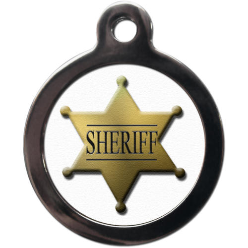 PS Pet Tags Sheriff Badge Dog ID Tag