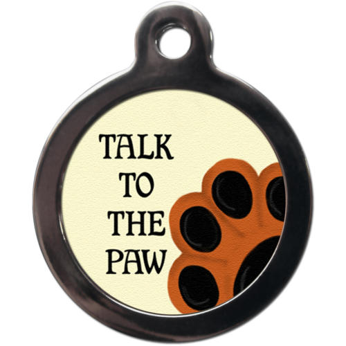 PS Pet Tags Talk to the Paw Dog ID Tag