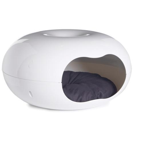 Sharples Pet Donut White Cat Bed