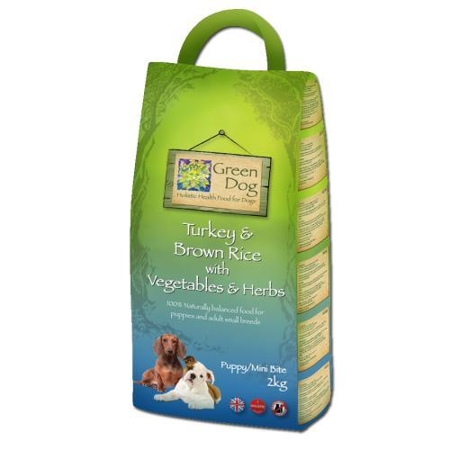 Greendog Mini Bite Turkey & Brown Rice Dry Puppy Food