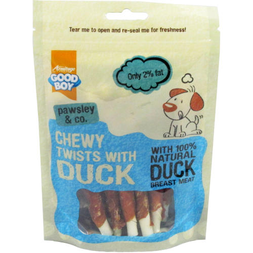 Good Boy Pawsley & Co Chewy Twists with Duck Dog Treats