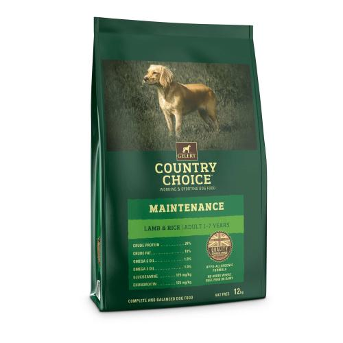 Gelert Country Choice Maintenance Lamb & Rice Adult Dog Food
