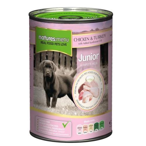 Natures Menu Junior Chicken & Turkey Puppy Food Cans