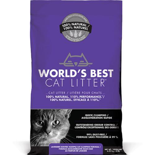 Worlds Best Cat Litter Lavender Clumping Formula