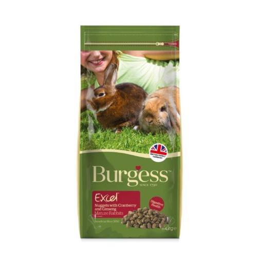 Burgess Excel Nuggets Cranberry & Ginseng Mature Rabbit Food