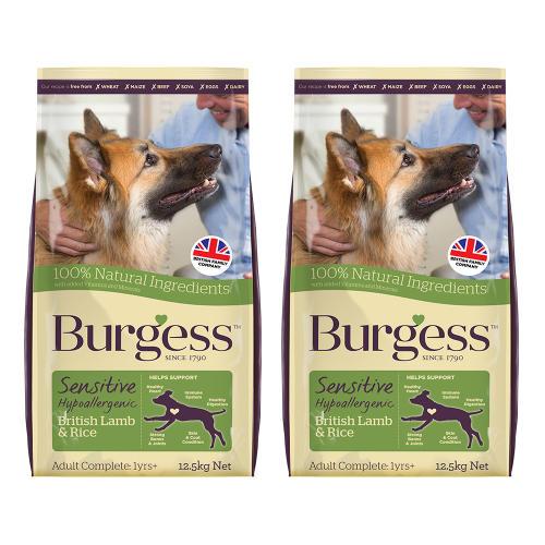 Burgess Complete Sensitive Lamb & Rice Adult Dog Food