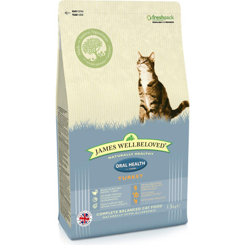 James Wellbeloved Oral Health Turkey Adult Cat Food